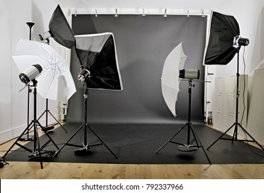 photography equipment in a studio