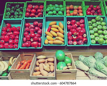 Photography of fruits and vegetables with a film camera