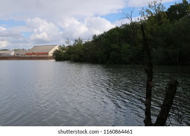 Photography of the inner harbor of the city of Macon, France