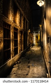 Photography of one of the corridors of Souq Waqif at night, in Doha, capital of Qatar. November 10/2017