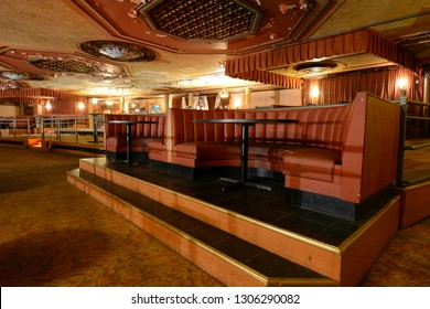 Photography Tour - Restaurant Seating In Paramount Theater at 1676 Main Street, Springfield, MA on October 27, 2018