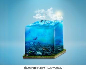 photomanipulation water cube