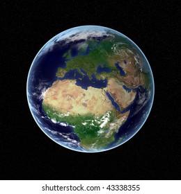 Photorealistic earth visualization