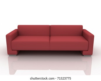 Photorealistic stylish 3d sofa