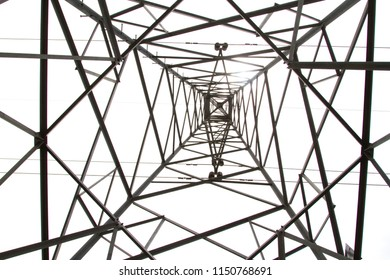Photos from the bottom corner of the high voltage post or High voltage tower