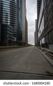 Photos of deserted Chicago streets