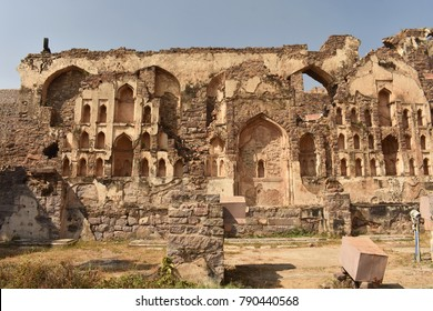 Photos of hyderabad golconda fort and charminar.
