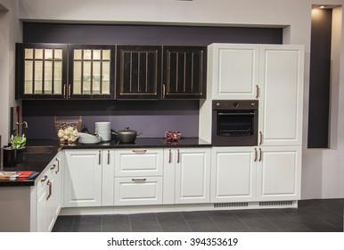 Photos kitchen set in the interior