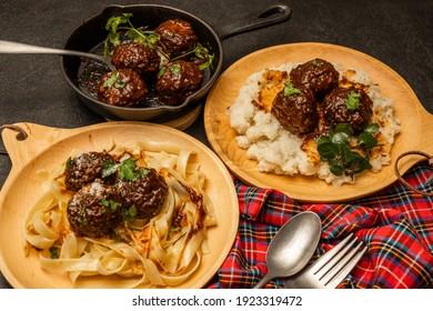Photos of outdoor cooking homemade meatballs