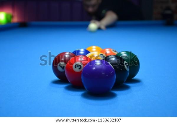 Pool Table Setup >> Photos Pool Table 9ball Setup Stock Photo Edit Now 1150632107