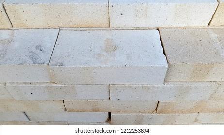photos of refractory bricks stacked