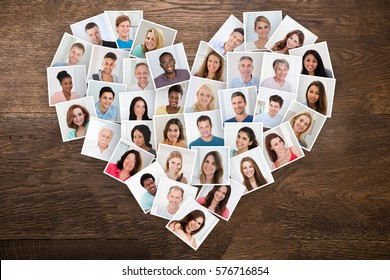 Photos Of Smiling People With Different Multiethnic In A Heart Shape