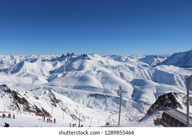 Photos taken of the Alpe d'Huez with beautiful sunny weather.