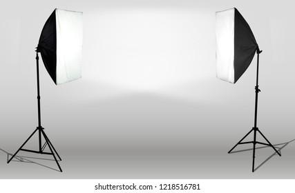 photostudio light canvas lamp two sides illuminate