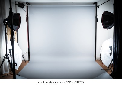 Photostudio Setup with neutral Background