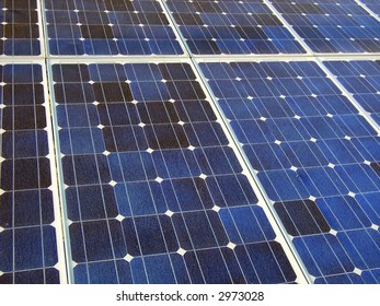 Photovoltaic cells in a solar panel to generate energy