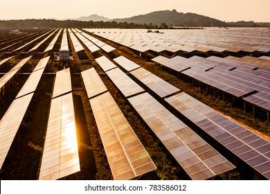 photovoltaic cells under blue sky