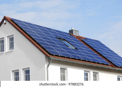 Photovoltaic installation on a residential house