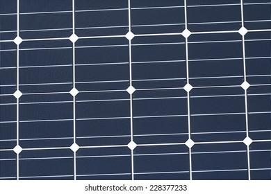 Photovoltaic Module with Monocrystalline Cells - Closeup