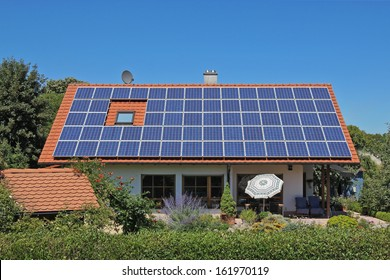 Photovoltaic module on private residential building
