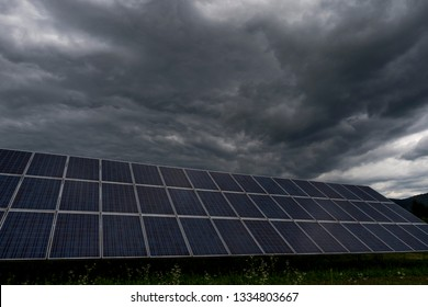 Photovoltaic modules for innovation green energy for life with blue sky background