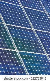 Photovoltaic panel for renewable electric production, Navarra, Aragon, Spain.
