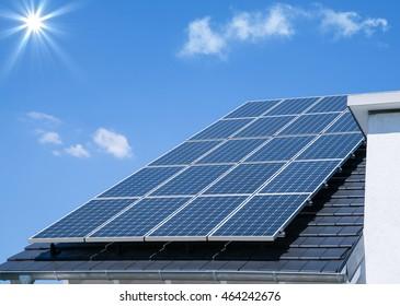 Photovoltaic panels, solar energy