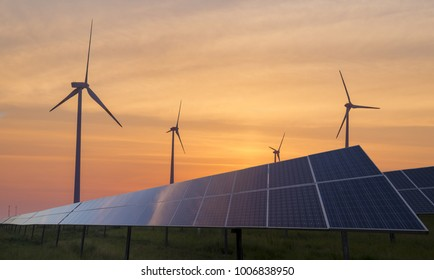 photovoltaic panels and wind turbines-the concept of renewable energy sources