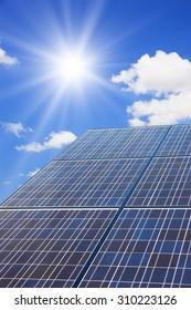 Photovoltaic power generation, blue sky
