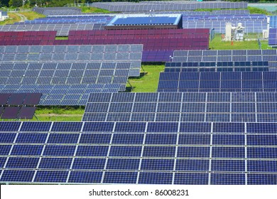Photovoltaic power plant in japan