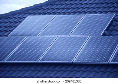 Photovoltaic roof panels