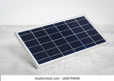 Photovoltaic, solar cell panel isolated over white background. Envergy saving concept.