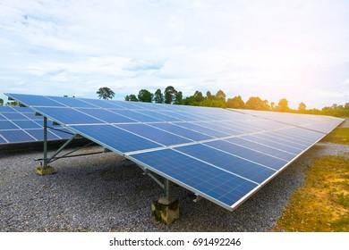 Photovoltaic or solar panel for renewable energy or electricity.Solar panels Convert solar energy into electrical energyRenewable energy from the sun.