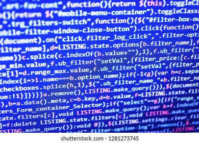 PHP development, software site code,  Php coding Close-Up,  Flat design, web development,  Js and the abstract background,  Php language and coding function developer