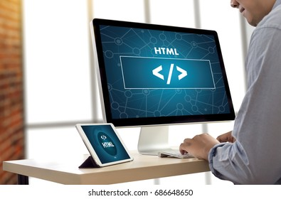 PHP HTML DEVELOPER Web Code design  Programmer working in a software in Development Programming Coding Cyberspace