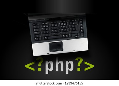 PHP programming language. laptop on php tag