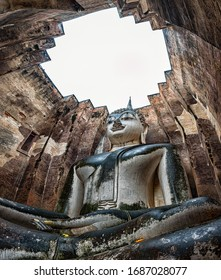 Phra Achana Buddha image at  Wat Si Chum Sukhothai Thaialnd