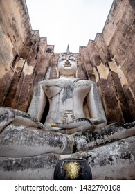 Phra Atchana is a huge Buddha statue in Wat Sri Chum temple in Sukhothai Historical Park, Thailand. The statue is more then 15 meters high and more than 11 meters wide.