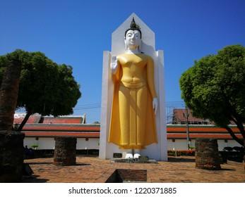 Phra atta rassa : detail buddha statue at Wat Pra sri rattana mahathat woramahavihan (Wat Yai) Phitsanulok, Thailand.