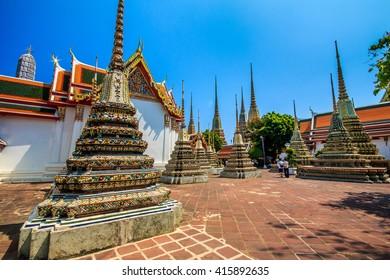 Phra Maha Chedi at Wat Pho Temple in bangkok, Thailand, Asia