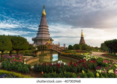 Phra Mahathat Napha Methanidon and Phra Mahathat Naphaphon Bhumisiri, a twin pagodas that were built to commemorate the fifth cycle birthdays of the King and the Queen of Thailand.