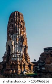 Phra Nakhon Si Ayutthaya. Thailand. 09/11/2018. Wat Phra Mahathat