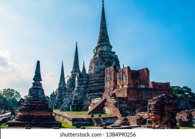 Phra Nakhon Si Ayutthaya. Thailand. 09/11/2018. Wat Phra Si Sanphet