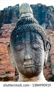 Phra Nakhon Si Ayutthaya. Thailand. 09/11/2018. Wat Phra Si Sanphet. Head of Buddha