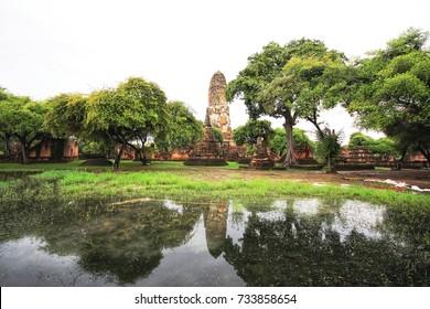 Phra Nakhon Si Ayutthaya Thailand October 13, 2017 Wat Phra Sri Sanpet The temple in Ayutthaya ancient palace, no Buddhist monks. The prototype. Temple of the Emerald Buddha Bangkok