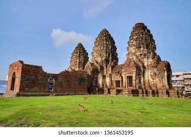 Phra Prang Sam Yot is former Hindu shrine built in13th century in classic Bayon style of  Khmer architecture the compound comprises three Prangs (towers) linked by corridors