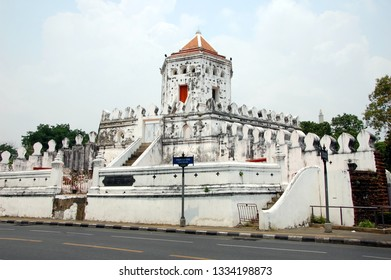 Phra Sumen Fort in Bangkok, Thailand. The fort was built during the reign of King Rama I (1782-1809)