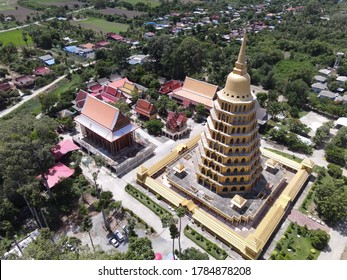 Phra That Chedi, Si Pho Thong,Temple Tha It District. Ang Thong,Thailand