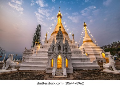 Phra That Doi Kong Mu Temple the most favourite place for tourist visit at Mae Hong Son Province, north of Thailand.