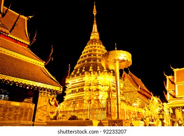 Phra That Doi Suthep in Chiang Mai in Thailand